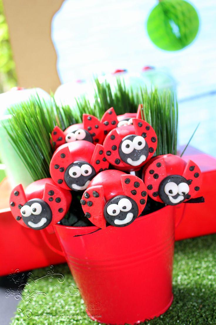 Ladybug Cake Pops #Ladybug #1stBirthday
