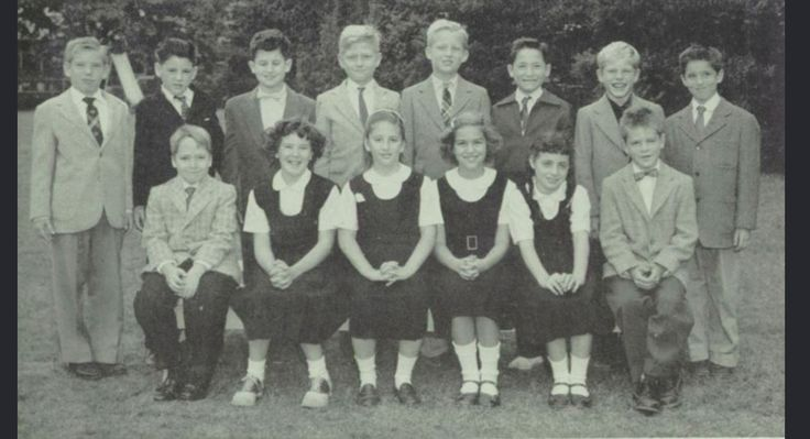 Donald Trump's fourth grade class at Kew-Forest school, 1956.
