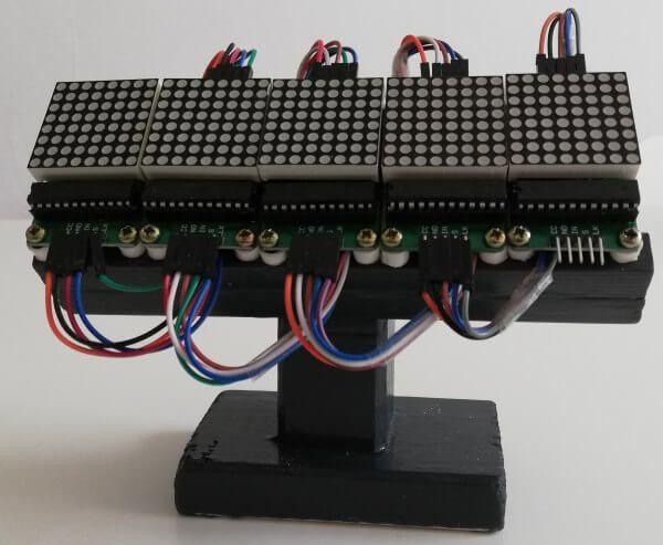Arduino Projekt Temperaturanzeige Auf Einer 8 8 Led Matrix Led Arduino Projekte Matrix