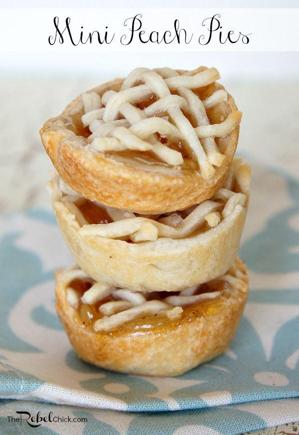 Mini peach pie #recipe from www.TheRebelChick.com