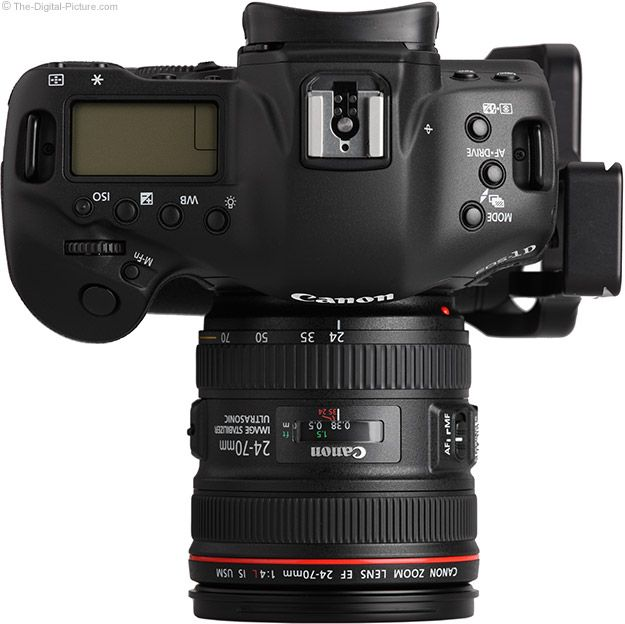 Canon 24 70 F 4 Is Top View On 1d X