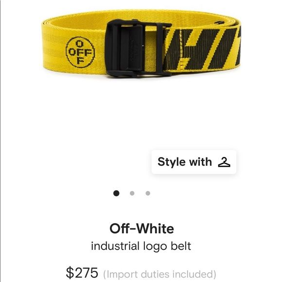 Off White Industrial Belt In 2020 Off White Industrial Belt White Industrial Belt