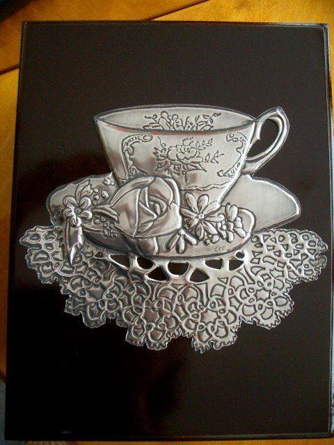Tea box - pewter