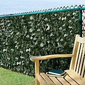 Use this Faux Ivy Privacy Screen to add an instant natural beauty to your deck, patio or garden. This decorative fencing consists of green plastic netting with vines of faux English ivy for a hedge look.