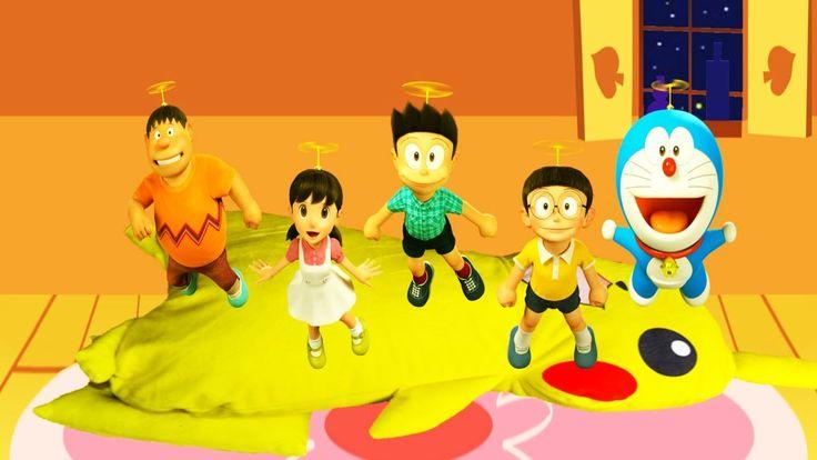 Five Little 3D Doraemon Jumping On The Bed - 3D Doraemon Nursery Rhymes ...