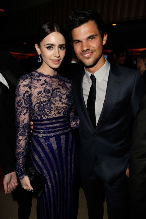 are taylor lautner and lily collins dating 2012