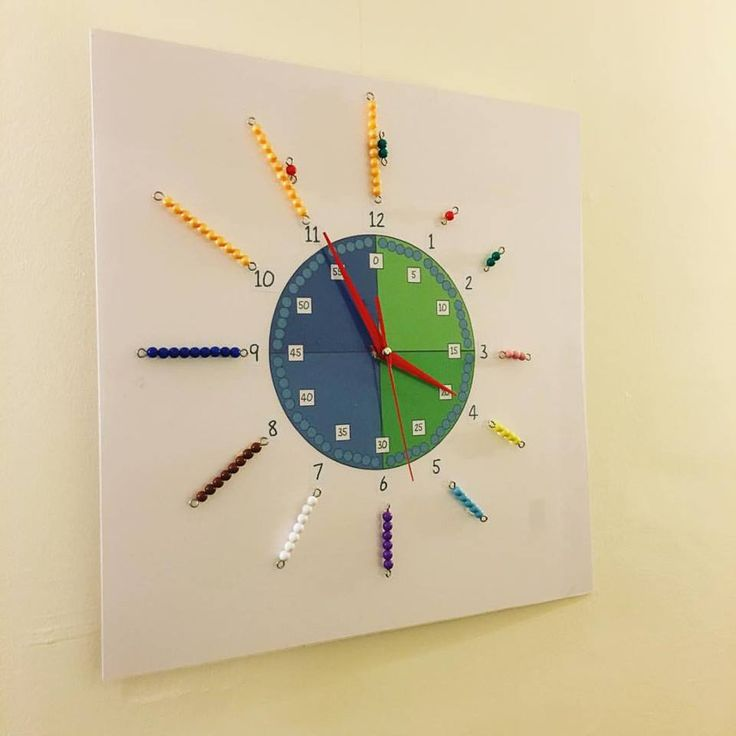 What a great visual way to teach time.