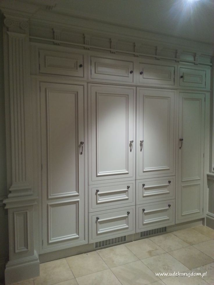 Classic wardrobe in white
