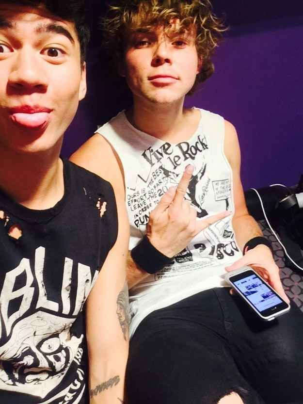 """First of all, Calum and Ashton took this picture backstage, before anything even started, changing lives by the mere truth of their existence. 