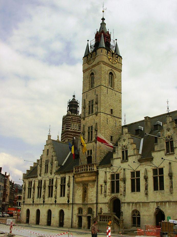 Belfry of the Town Hall, Dendermonde, Flanders Region, Belgium