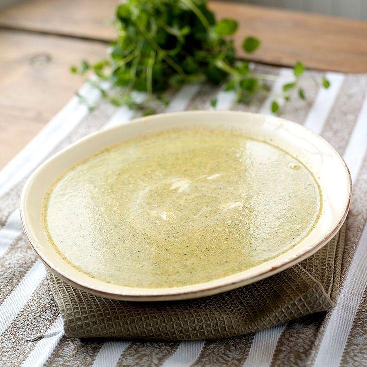 brokkolisuppe med creme fraiche