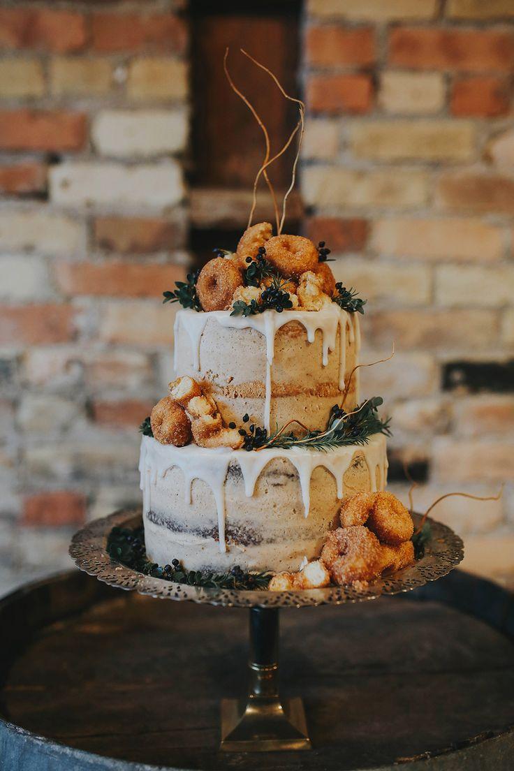 wedding cake - photo by Summer Taylor Photography http://ruffledblog.com/moody-whiskey-bar-wedding-inspiration