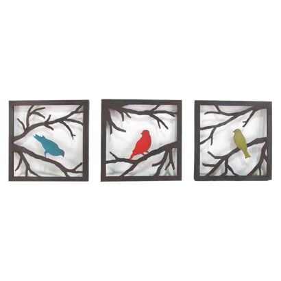 Birds on Branch 3 Piece - BoldBirds Wall, Wall Decor, Decor Wall, Target Mobiles, Living Room, House, Piece 11X11, Bedrooms Ideas, Branches