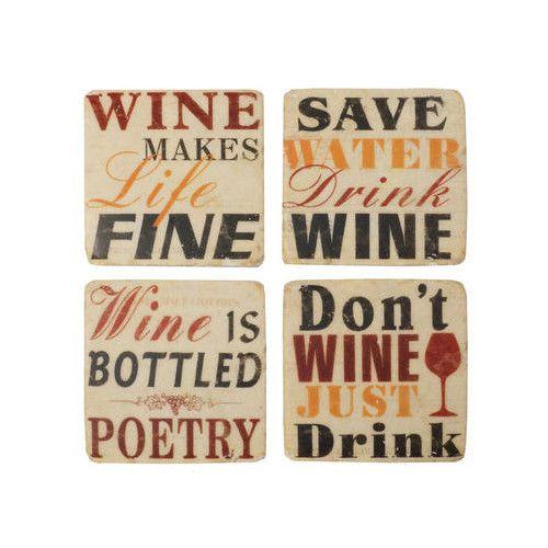 Fine Wine Coaster (Set of 4)