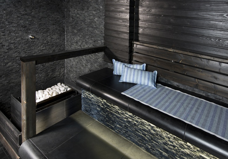 Soapstone sauna interior at Koli Relax Spa