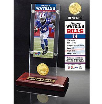 NFL® Buffalo Bills Sammy Watkins Ticket & Bronze Coin Ticket Acrylic by The Highland Mint