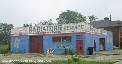 Abandoned radiator repair shop in Detroit