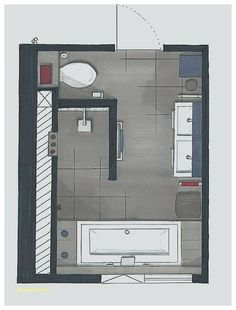 Grundriss Badezimmer 12qm Home Spa 6qm Planung Planen Wohndesign ...