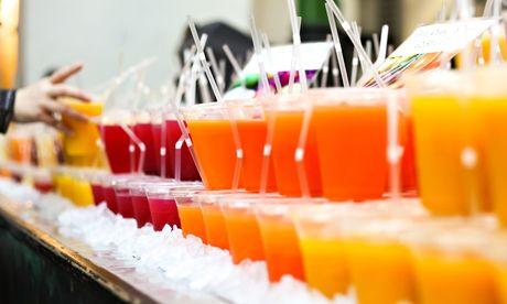 Take away orange juice. Zumo de naranja para llevar. Suc de taronja per #emportar
