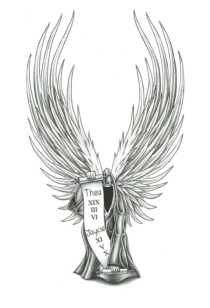 Guardian Angel Tattoo Sketches 23 best images about A...