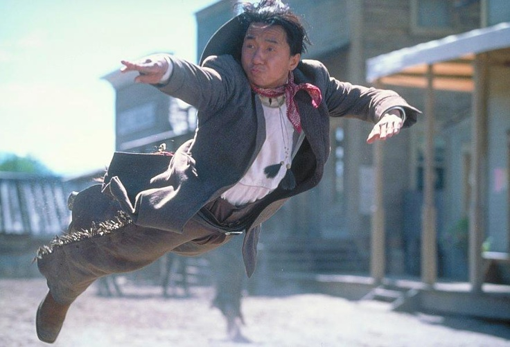 Jackie Chan....I see he has a cowboy hat, but can't find a photo with it on his head.