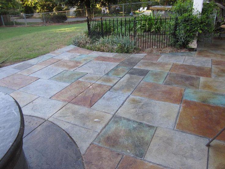 137 best backyard oasis images on pinterest | patio ideas, stamped ... - Concrete Patio Ideas Backyard