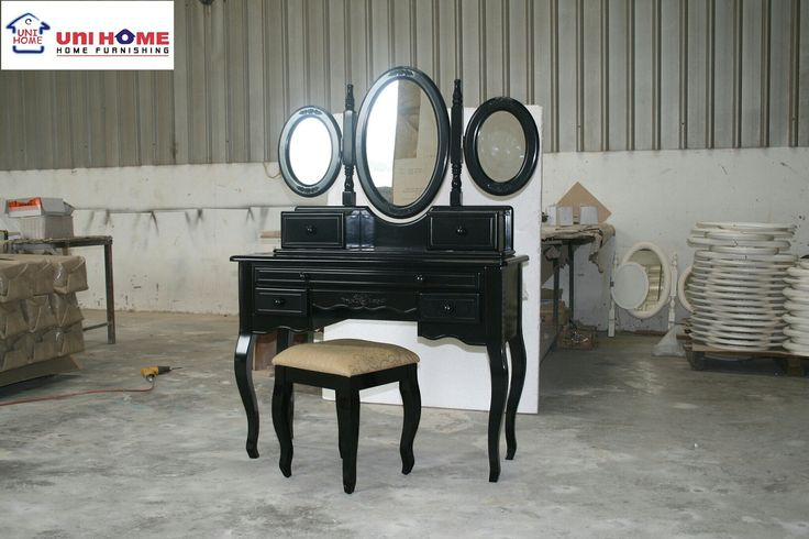 We are so happy to announce that we welcome custom color request. Yes, enjoy this full dressing table in a darker color.  Contact us for more details :) Line: Unihome Wa: 0878-8432-5705 Tlp: 0812-1385-7691 / 021-22210817
