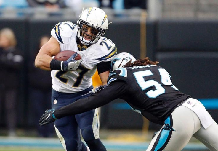 Chargers Panthers Football Kenneth Farrow, Shaq Thompson