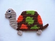 Schildkröte - Häkelapplikation
