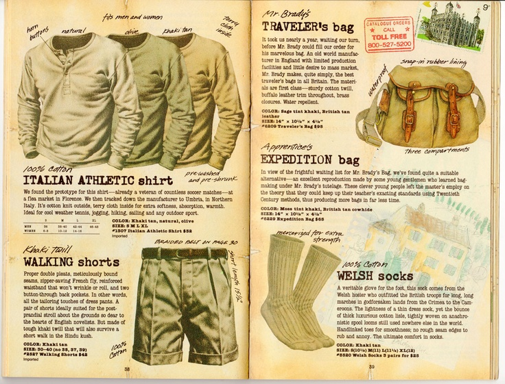 Abandoned Republic   A journey through vintage Banana Republic catalogs - I used to have a safari tee I loved...