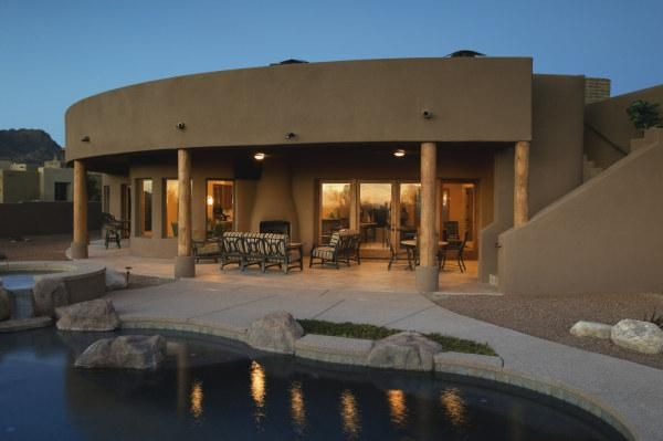 11 best images about arch style pueblo revival on for Pueblo home builders