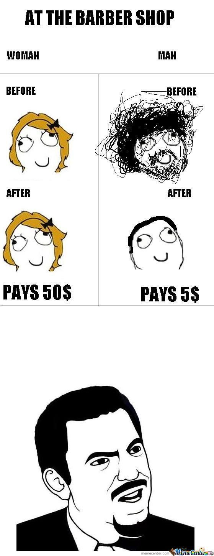 funny meme boy vs girl at the salon so true amp it drives