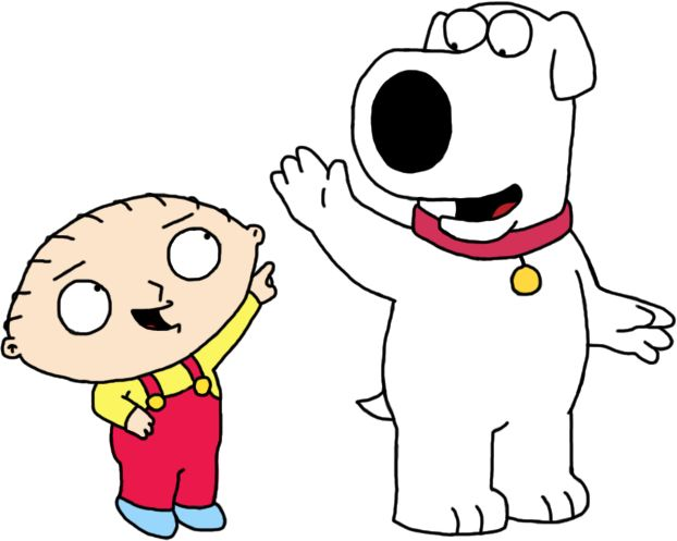 Stewie Griffin and Brian Griffin are BFF's