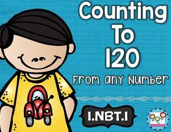 Counting to 120:This math set is tied directly to the first grade common core NBT.1:This set is the perfect tool to teach your students the first Numbers in Base Ten standard in the common core. By completing the activities in this set, your students will understand how to count to 120 starting at any number less than 120 and read and write numerals.