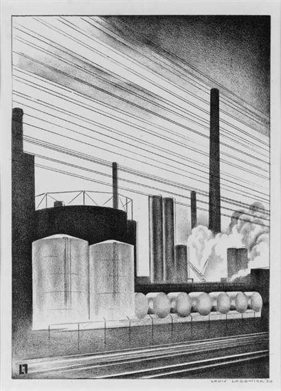 Louis Lozowick - White Tanks (1930)