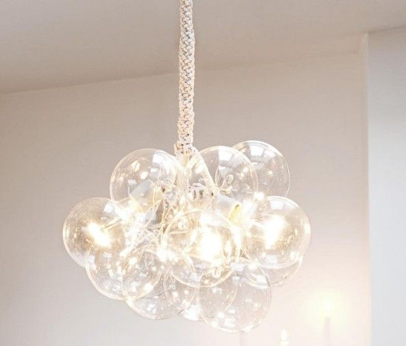 DIY bubble chandelier-step by step instructions. I want to try this for my own home.  I wonder if it could be made larger?