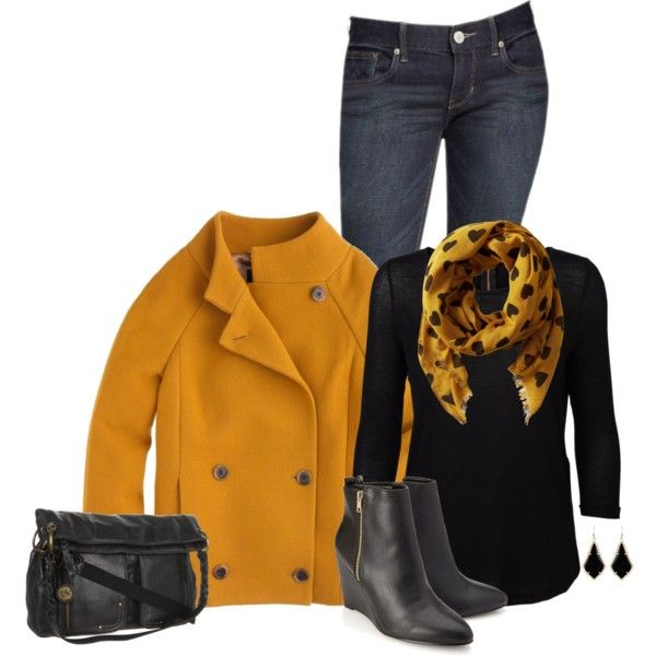 A fashion look from September 2014 featuring Vero Moda blouses, J.Crew coats y Express jeans. Browse and shop related looks.
