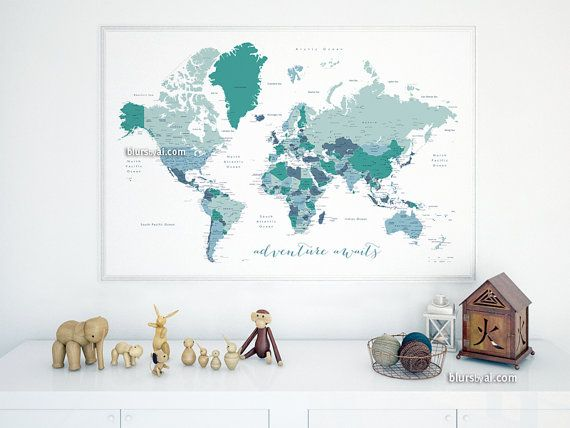 The Best World Maps With Countries Ideas On Pinterest Show - World map with cities and countries