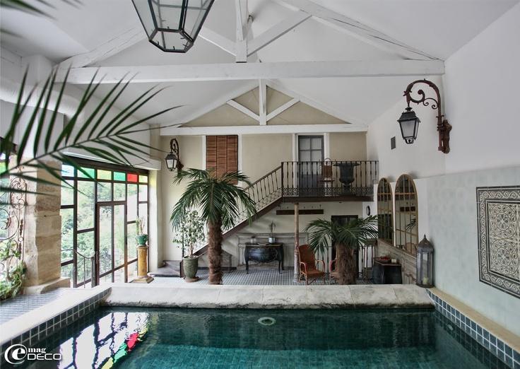 Piscine couverte justin de provence orange france - Maison d hote en alsace avec piscine ...