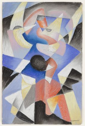 Gino Severini / Dancer / 1912 / pastel on paper