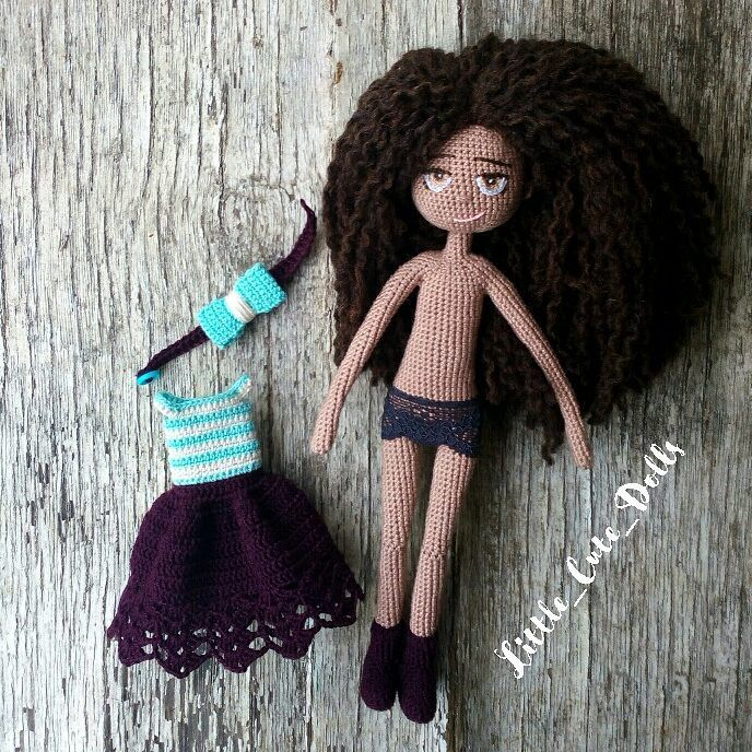 "126 Likes, 3 Comments - Natalie Pitalenko (@little_cute_things_by_nat) on Instagram: ""And... Here we are! Custom dolly))) #crochetdoll #nwd #best_hm_world #handmadetoy #handmadedoll…"""