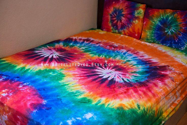 Tie Dye Sheet Set, Queen Tie Dye Sheet Set, Bedding, Sheets, Tie Dye Bedding Bed Sheet Set ,Tie Dye Sheets by BriteLiteDyed on Etsy