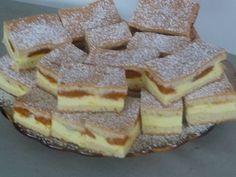 Najúžasnejší tvarohový koláč aký ste kedy jedli! 500 g hl.múka 200 g pr.cukor 250 g maslo 200 ml kyslá smotana 2 vajíčka 1 kypriaci prášok do pečiva vanilka citr.kôra     Plnka:  tvaroh z Lidla vedierkový – 500 g, kyslá smotana- 500 ml. /červená z Lidla/ cukor podľa chuti 4 žĺtka 4  bielka vyšľahať 1  puding Olle za studena vanilkový, citrónová šťava marhule