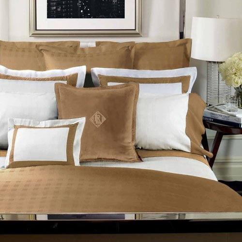 Ralph Lauren Hotel Collection Bedding: Ralph Lauren Suite Glen Plaid Queen Comforter Camel