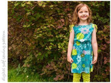Indigo Dress - Sizes 2 to 10 | Craftsy | digital pdf sewing pattern