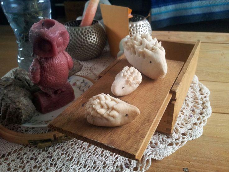 Tijd om een herfststukje te gaan maken, met een egelfamilie van brooddeeg.