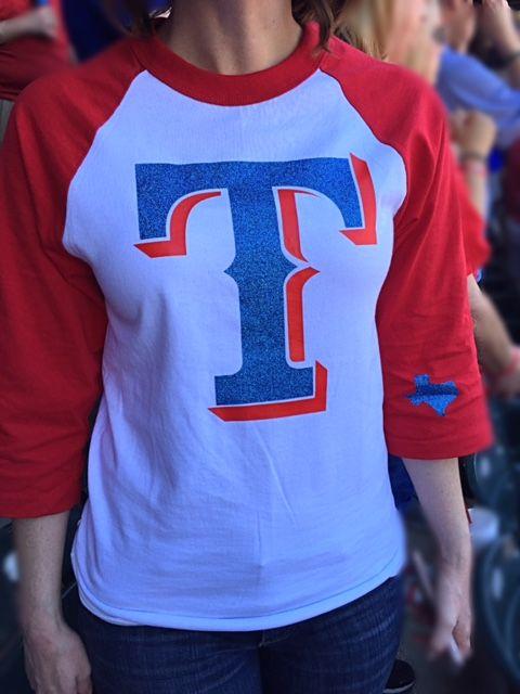Texas Rangers Raglan T - Dear1Designs on fb
