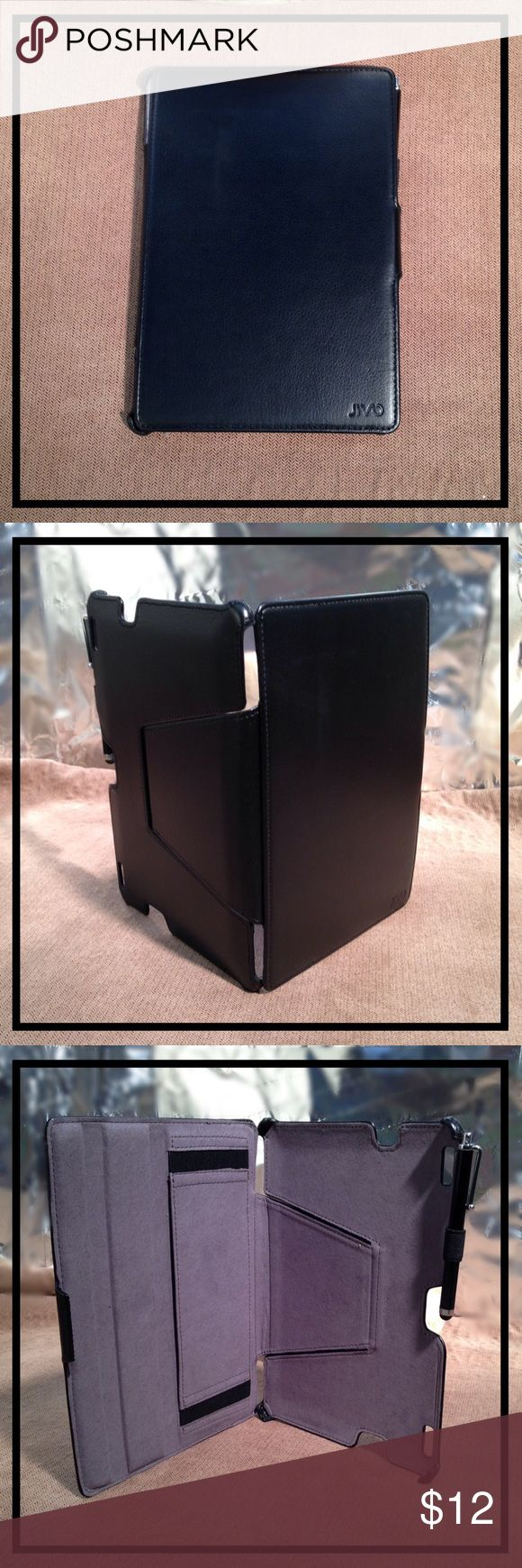 """KINDLE FIRE HDX 8.9"""" TABLET CASE & STYLUS IN BLACK ⭐️ BRAND NEW ⭐️ KINDLE FIRE HDX 8.9inch TABLET CASE with STYLUS! Color: Black w/gray interior. Style: Bookcover.  Protect your KINDLE FIRE 8.9"""" with this BOOKCOVER CASE & STYLUS.   GREAT GIFT  Accessories Phone Cases"""