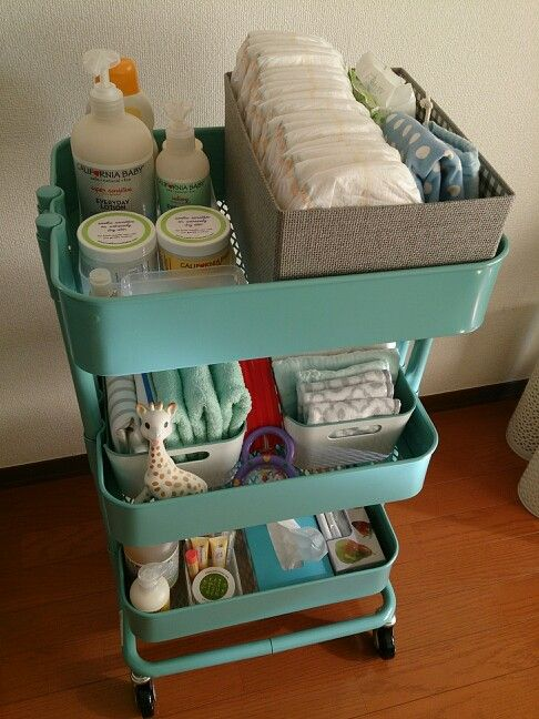 IKEA wagon nursery station オムツ入れ