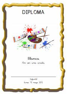 Actividades para Educación Infantil: Generador de diplomas DIPLOMAMAKER